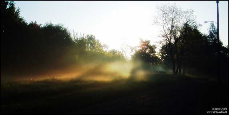 Poranek w pracy. WAT o świcie.