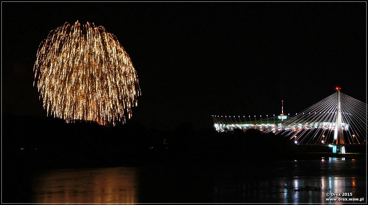 pokaz fajerwerków 2015 warszawa